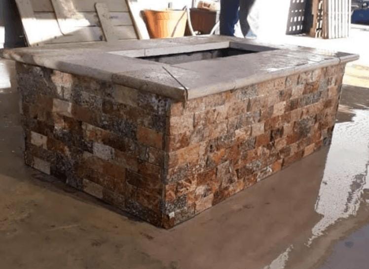 custom brick fireplace in Galveston, TX